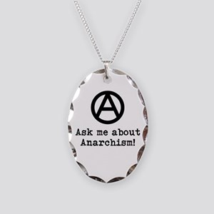 Ask Me! Necklace Oval Charm