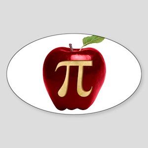 Apple Pi Sticker (Oval)