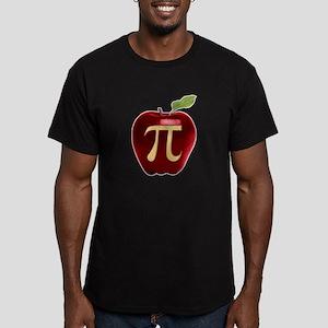 Apple Pi Men's Fitted T-Shirt (dark)
