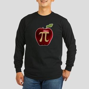 Apple Pi Long Sleeve Dark T-Shirt