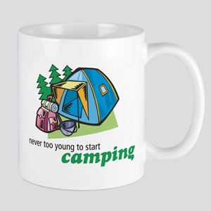 Never Too Young to Start Camping Mug