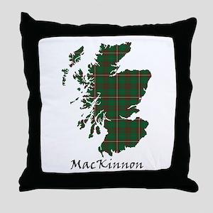 Map-MacKinnon hunting Throw Pillow