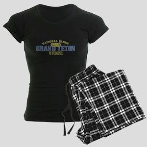 Grand Teton National Park Wyo Women's Dark Pajamas