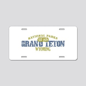 Grand Teton National Park Wyo Aluminum License Pla