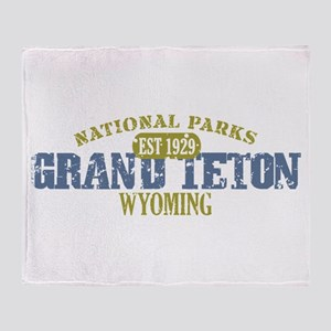 Grand Teton National Park Wyo Throw Blanket