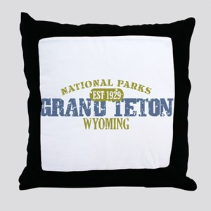 Grand Teton National Park Wyo Throw Pillow