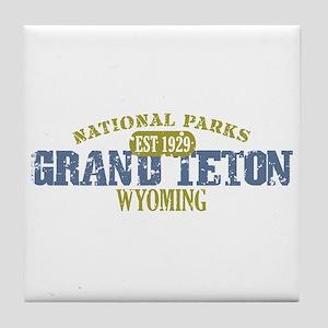 Grand Teton National Park Wyo Tile Coaster