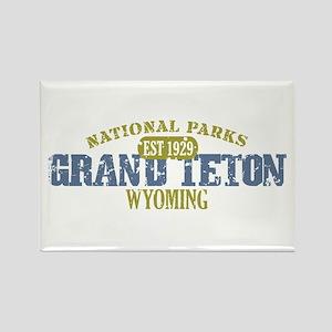 Grand Teton National Park Wyo Rectangle Magnet