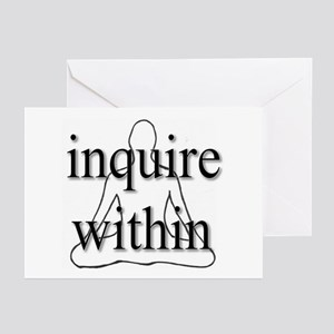 Inquire Within Greeting Cards (Pk of 10)