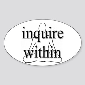Inquire Within Oval Sticker