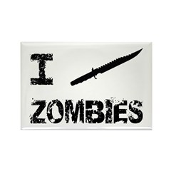 I Stab Zombies Rectangle Magnet (100 pack)