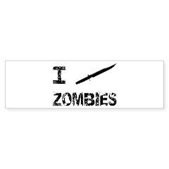 I Stab Zombies Sticker (Bumper)