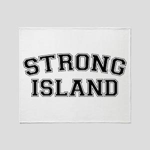 Strong Island Throw Blanket