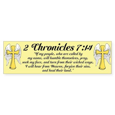 2 Chr 7:14 Cross Wing Sticker (Bumper)