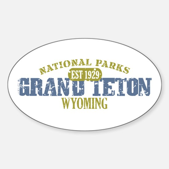 Grand Teton National Park Wyo Sticker (Oval)