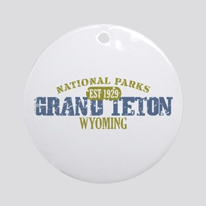 Grand Teton National Park Wyo Ornament (Round)
