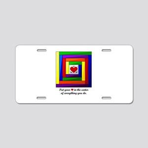 Quilt Square Aluminum License Plate