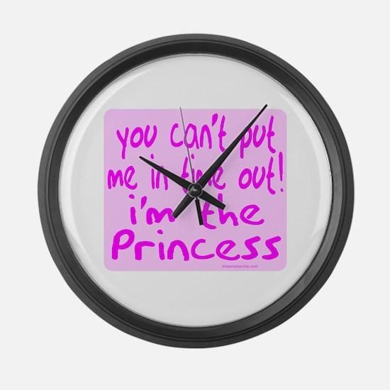 I'M THE PRINCESS Large Wall Clock