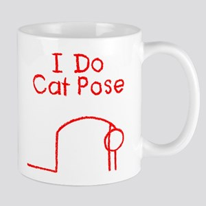 Red Cat Pose Mug