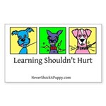 Learning Shouldn't Hurt Sticker (Rectangle)