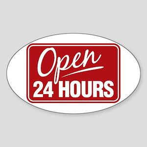 24 Hours... Oval Sticker