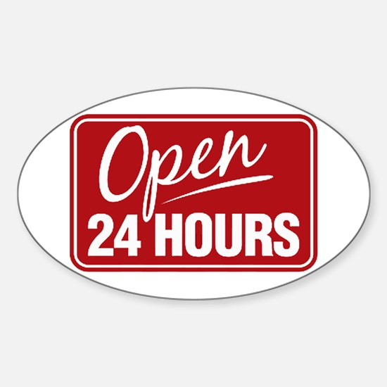 24 Hours... Oval Decal