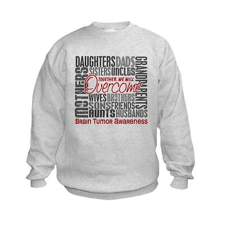 Family Square Brain Tumor Kids Sweatshirt