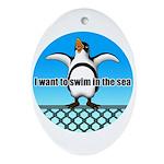 Penguin Ornament (Oval)