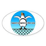 Penguin Sticker (Oval)