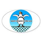 Penguin Sticker (Oval 10 pk)