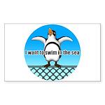 Penguin Sticker (Rectangle)