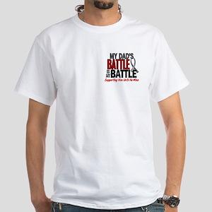 My Battle Too Brain Cancer White T-Shirt