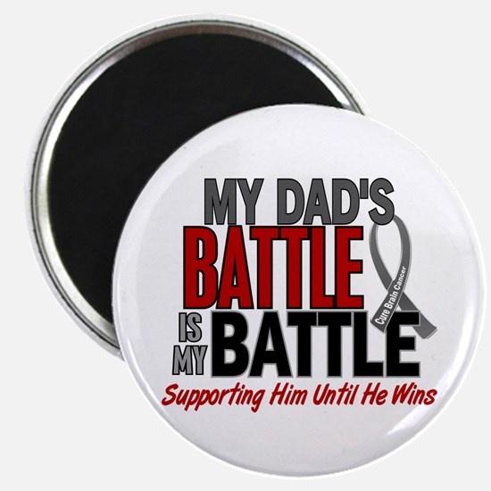 """My Battle Too Brain Cancer 2.25"""" Magnet (100 pack)"""