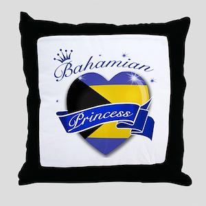 Bahamian Princess Throw Pillow