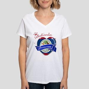 Belizean Princess Women's V-Neck T-Shirt
