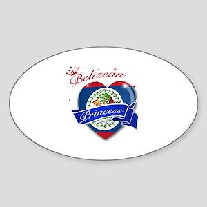Belizean Princess Sticker (Oval)