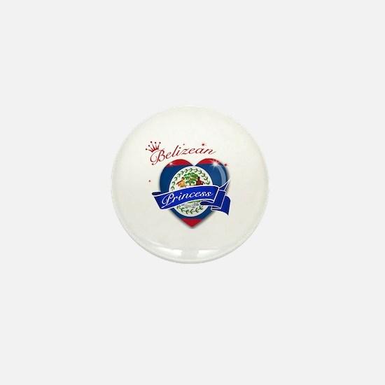 Belizean Princess Mini Button