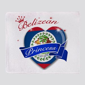 Belizean Princess Throw Blanket