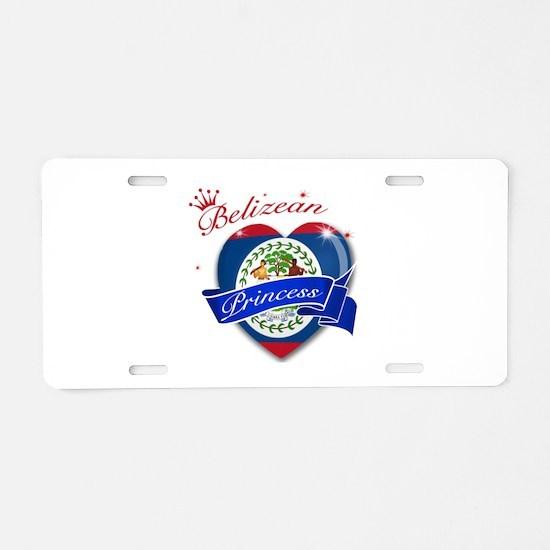 Belizean Princess Aluminum License Plate