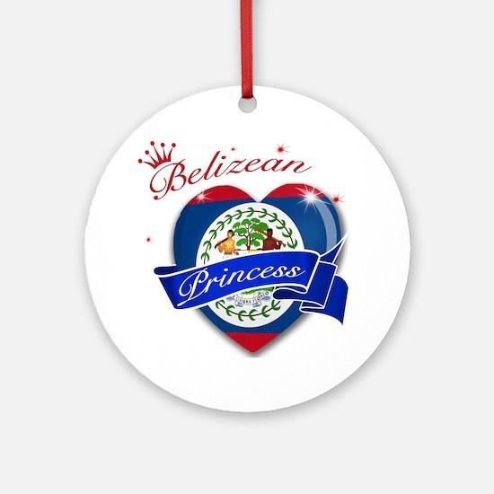 Belizean Princess Ornament (Round)