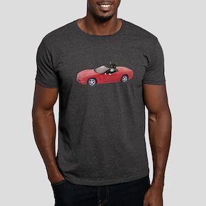 Cat in Red Car Dark T-Shirt