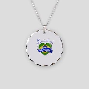 Brazilian Princess Necklace Circle Charm