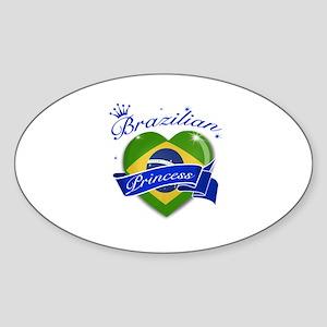 Brazilian Princess Sticker (Oval)