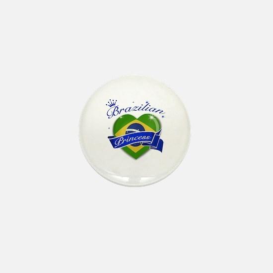 Brazilian Princess Mini Button