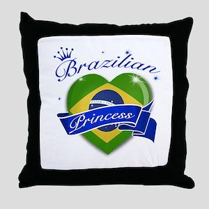 Brazilian Princess Throw Pillow