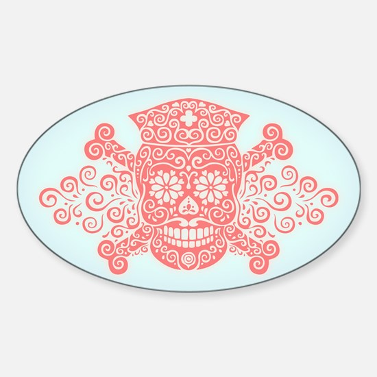 Antique Pirate Nurse II Sticker (Oval)