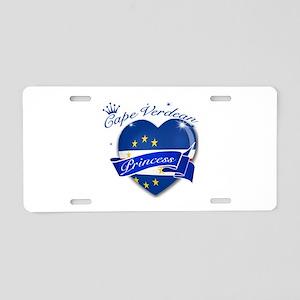 Cape Verdean Princess Aluminum License Plate