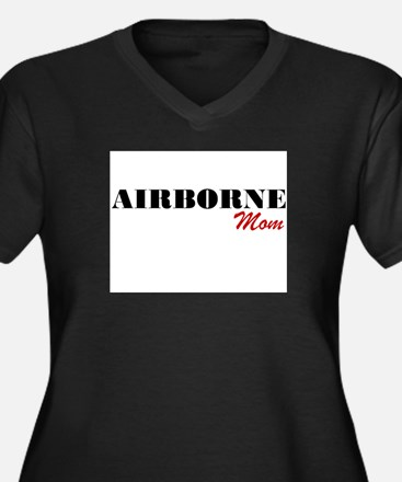 Funny Airborne mom Women's Plus Size V-Neck Dark T-Shirt
