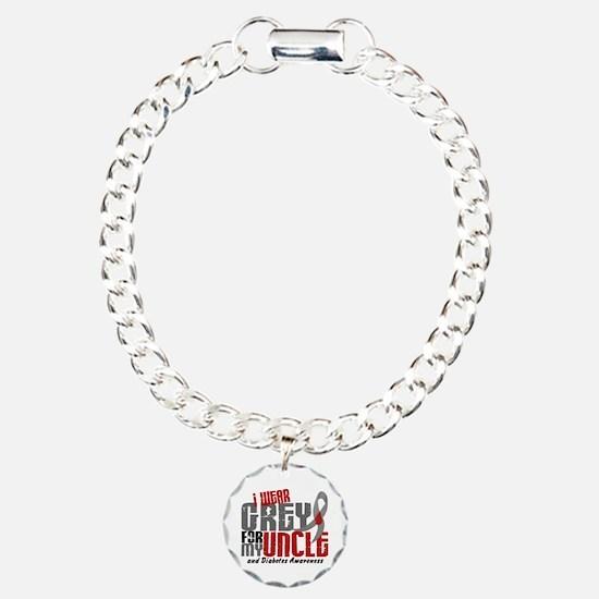 I Wear Grey 6 Diabetes Bracelet