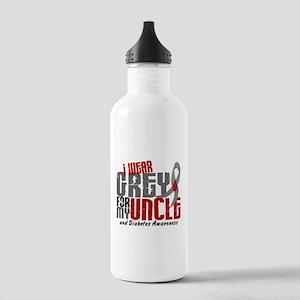 I Wear Grey 6 Diabetes Stainless Water Bottle 1.0L